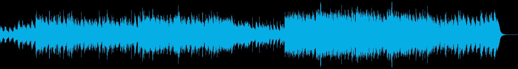 切迫感のあるシリアスなオーケストラの再生済みの波形