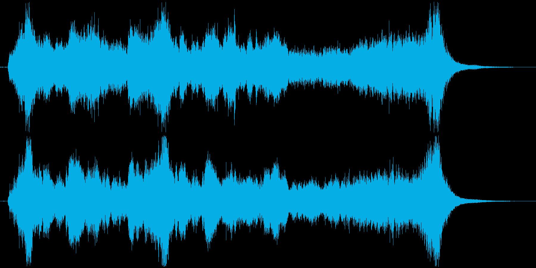 華やかなオーケストラファンファーレの再生済みの波形