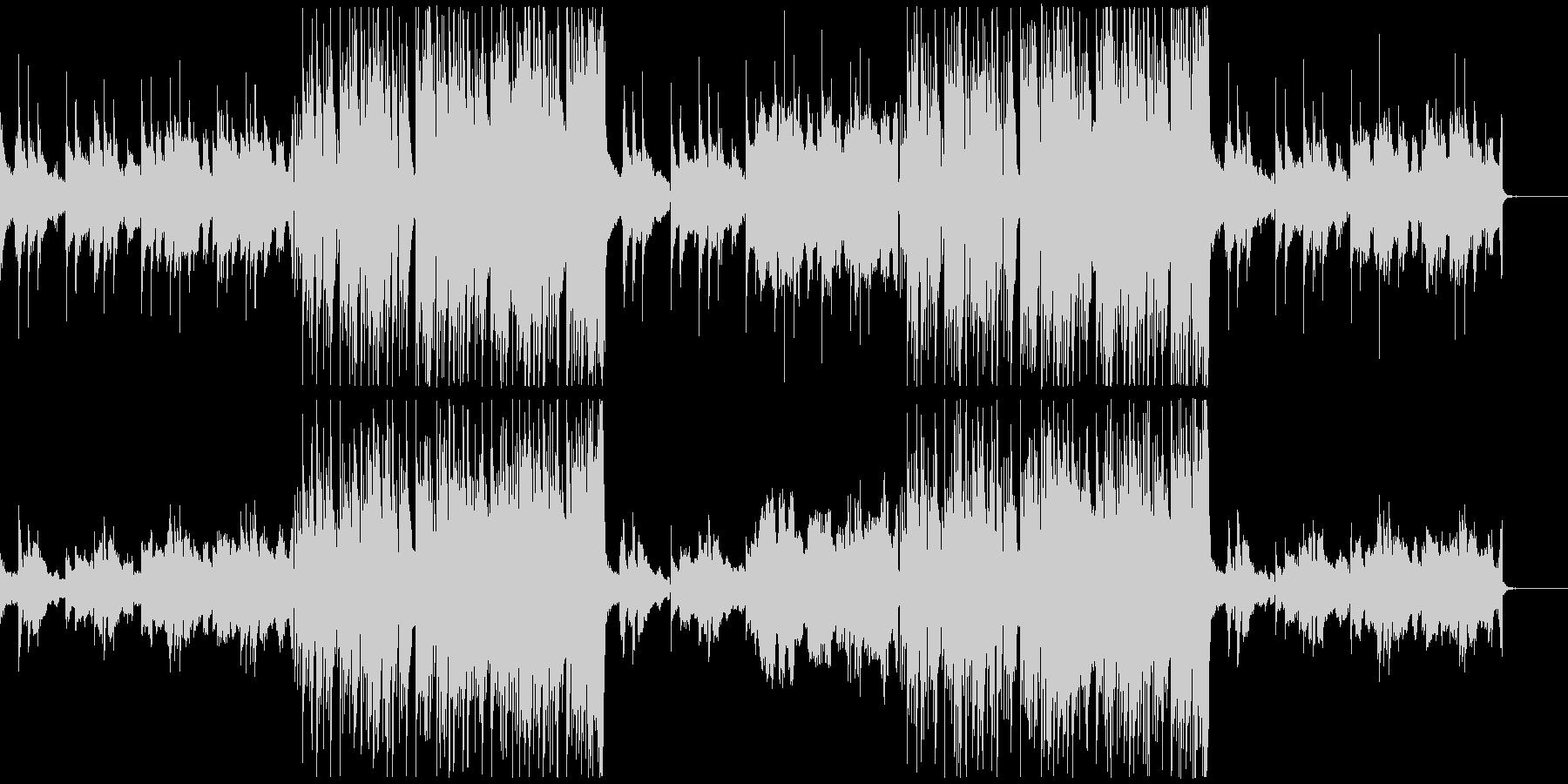 モダンでスタイリッシュなエレクトロBGMの未再生の波形