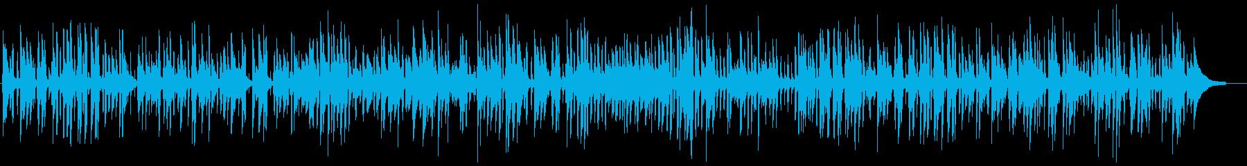 おしゃれなバーのソフトピアノジャズの再生済みの波形