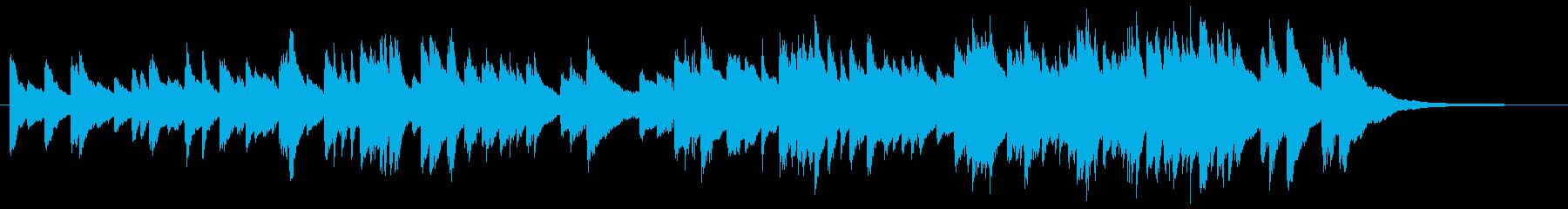 ゆったりとしたピアノソロバラードの再生済みの波形