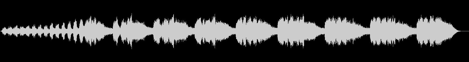 ミンミセミの声鳴き始めから 一匹 近いの未再生の波形