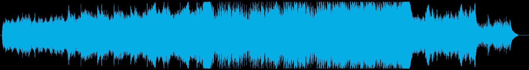 壮大なイメージのBGMの再生済みの波形