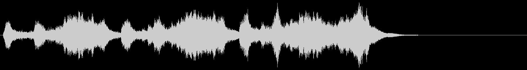 トランペットの高らかなファンファーレの未再生の波形