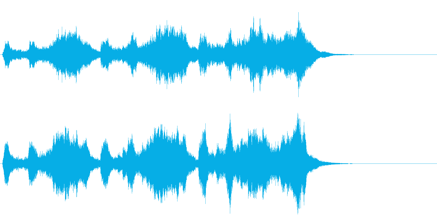 トランペットの高らかなファンファーレの再生済みの波形