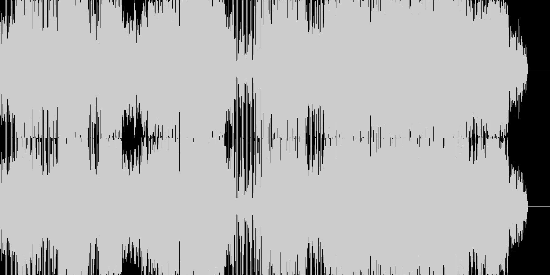 マニアックなテクノポップの未再生の波形