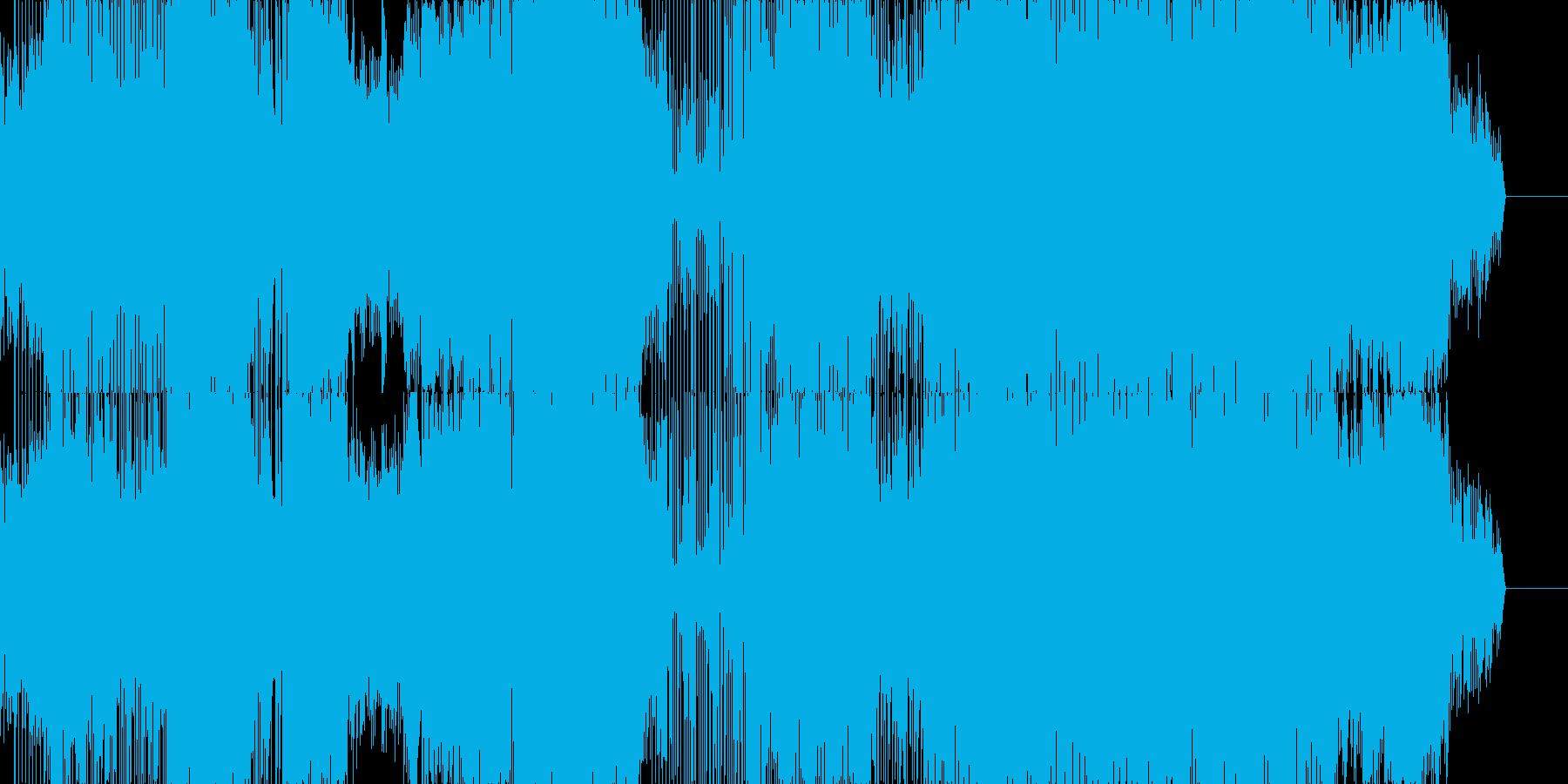 マニアックなテクノポップの再生済みの波形