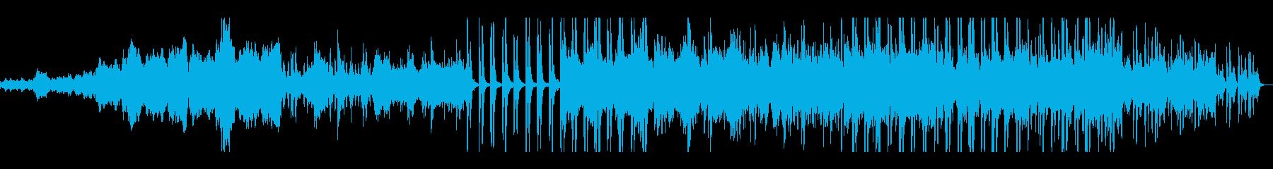 少し明るめなストリングス曲の再生済みの波形