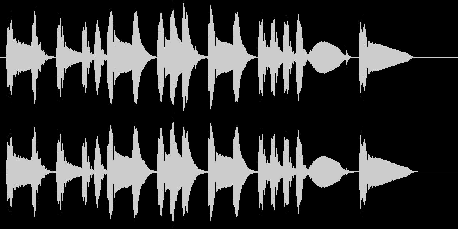 ほのぼのとした場面に使える木琴のジングルの未再生の波形
