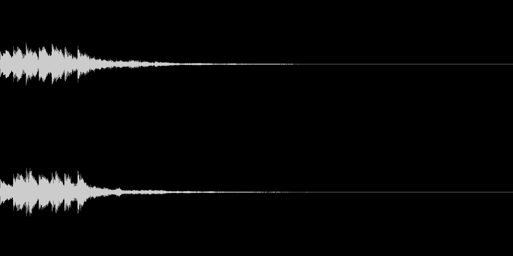 効果音【スタート・獲得・決定・LvUp】の未再生の波形