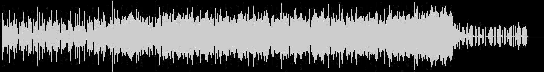 エレクトロ風のBGMの未再生の波形