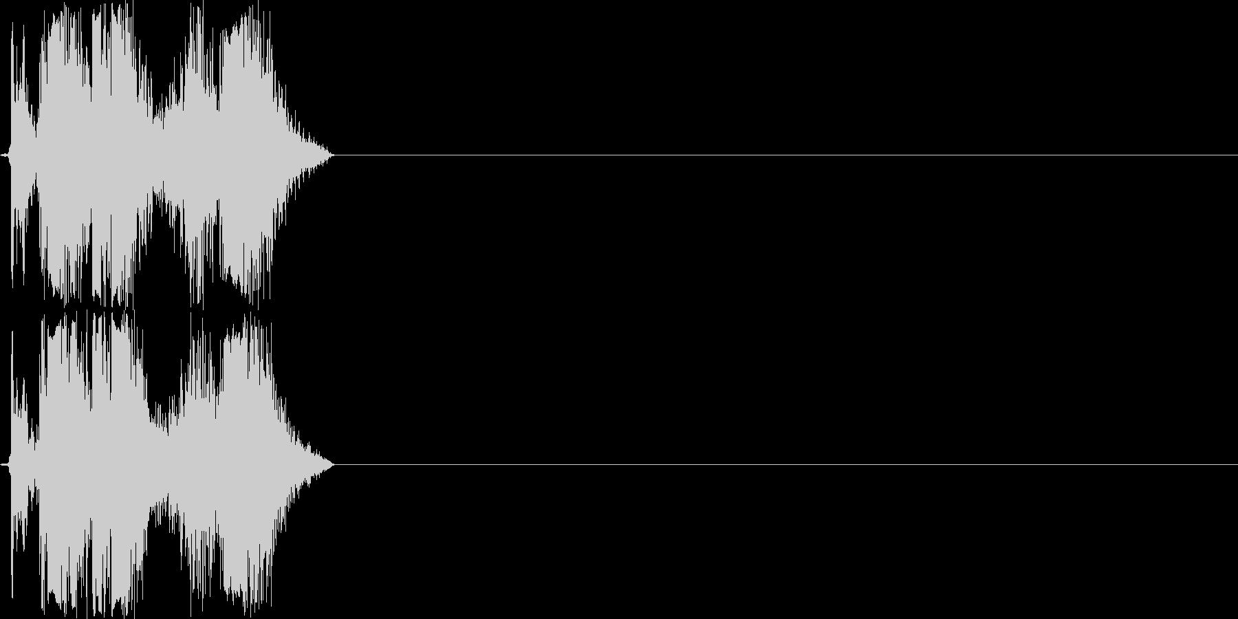 カチャ(ハンドガンのリロード音)の未再生の波形