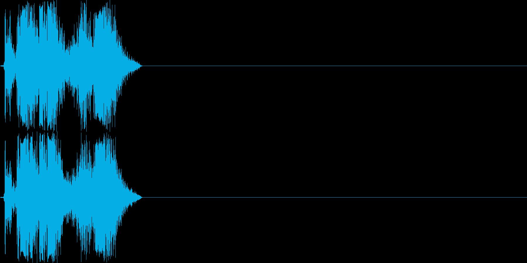 カチャ(ハンドガンのリロード音)の再生済みの波形