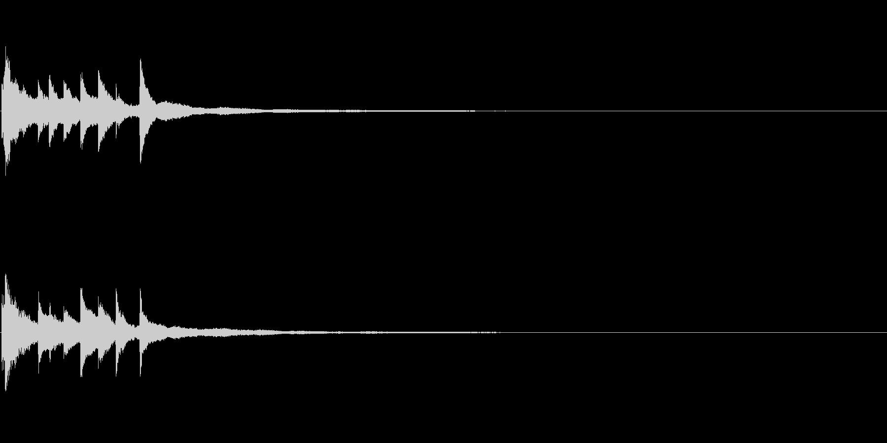 ピアノソロサウンドロゴ 優雅 大人 06の未再生の波形