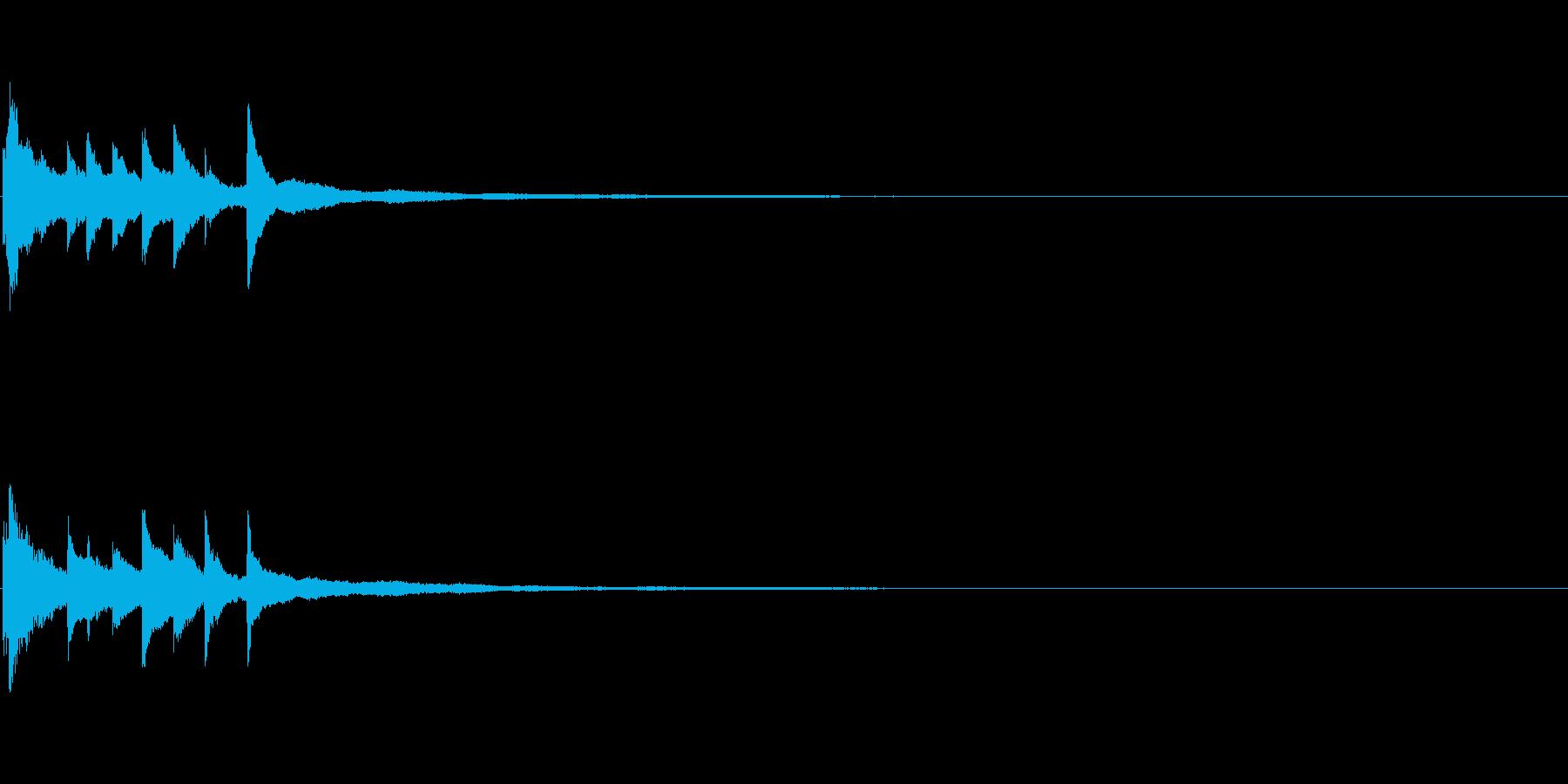 ピアノソロサウンドロゴ 優雅 大人 06の再生済みの波形