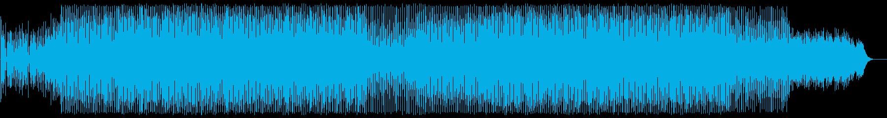 緩やかで穏やかなテクノポップの再生済みの波形