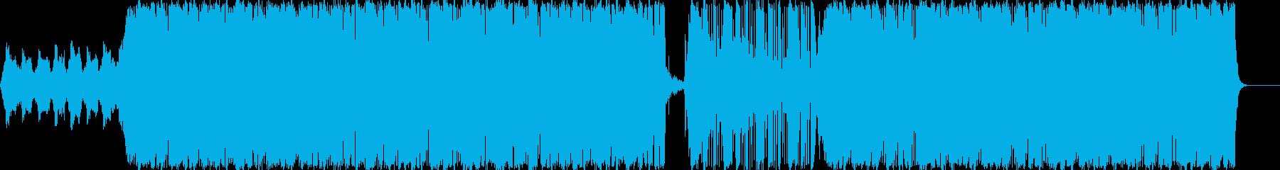 せつない系のインストテクノポップの再生済みの波形