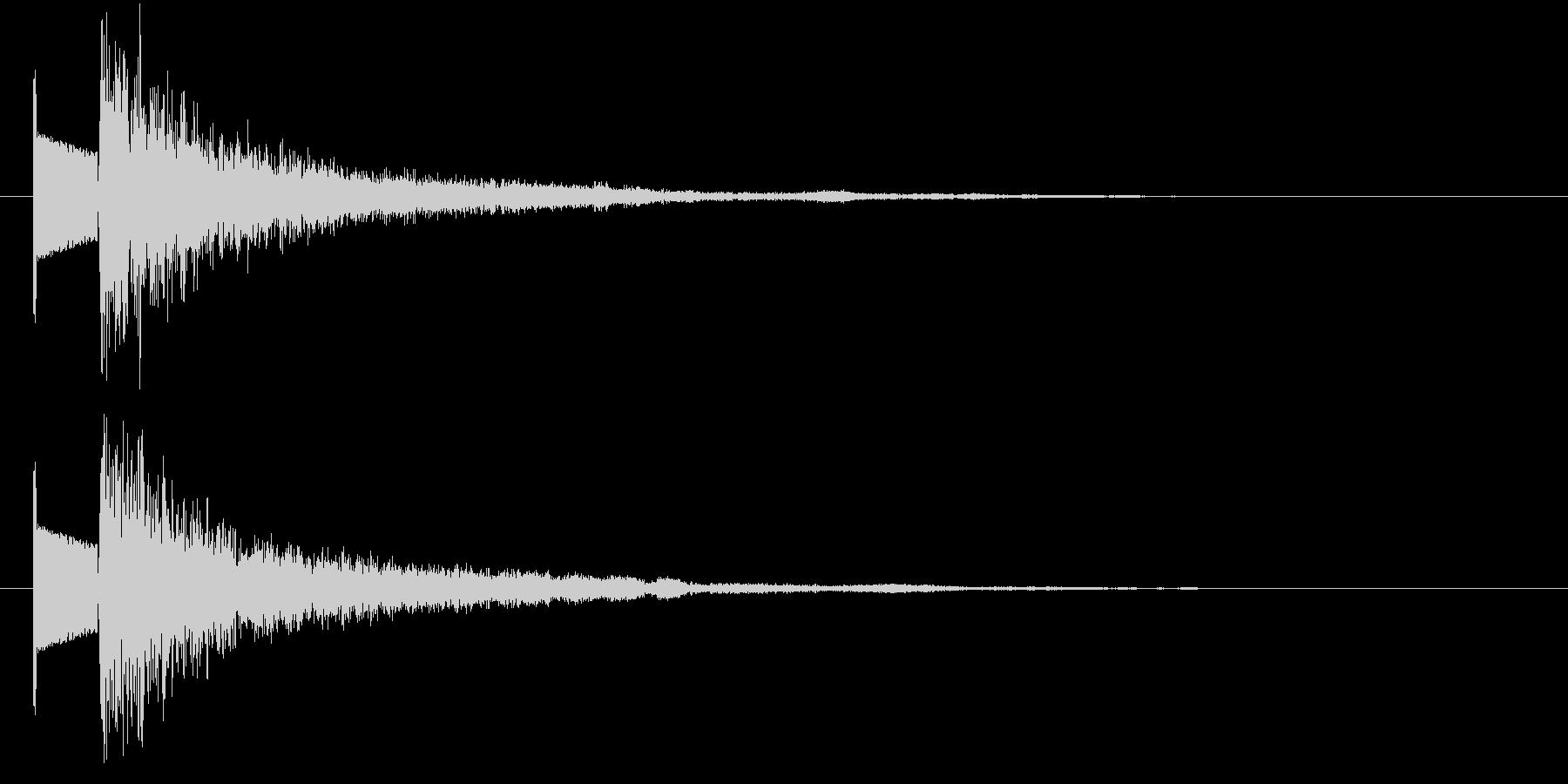 ビームの未再生の波形