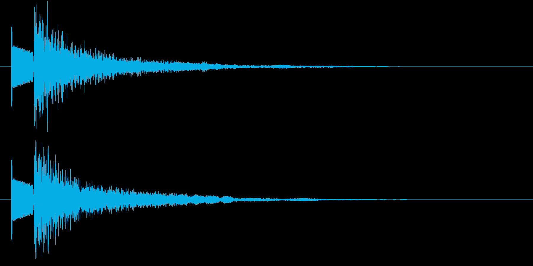 ビームの再生済みの波形