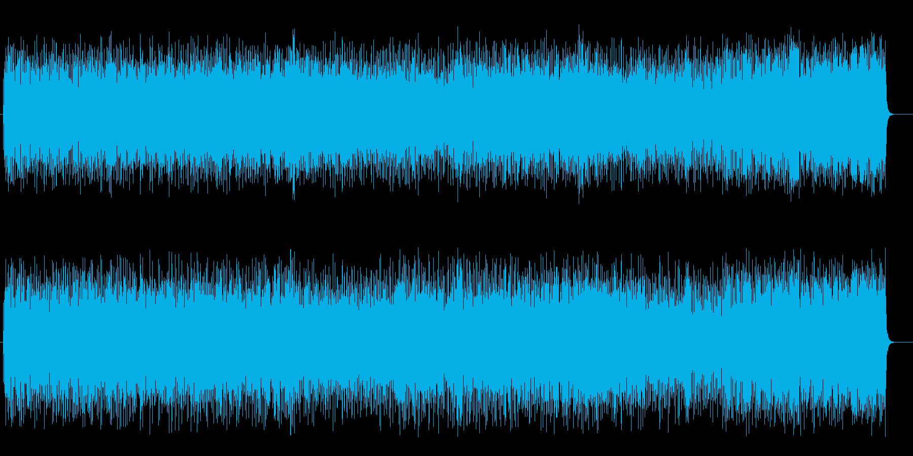 テンポのよい懐かしい軽音楽ライトポップスの再生済みの波形
