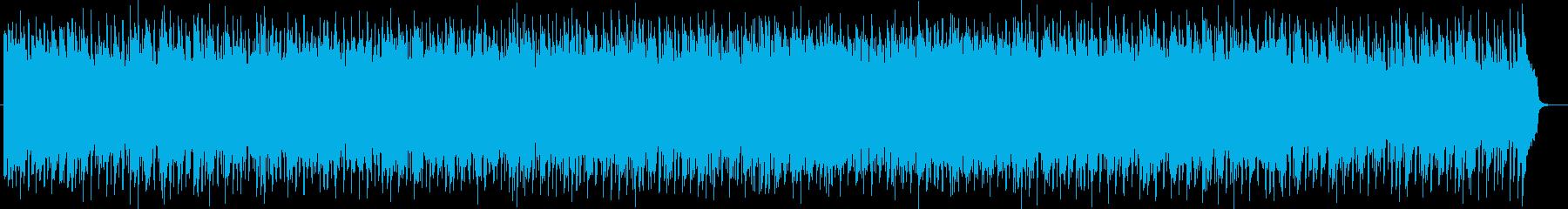 軽快でコミカルなミュージックの再生済みの波形
