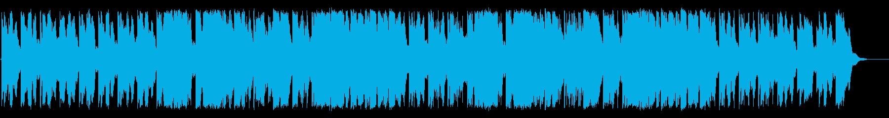 ふんわりとしたリラクゼーションBGMの再生済みの波形