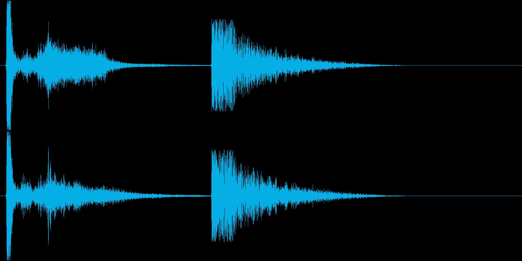 衝撃 空爆11の再生済みの波形