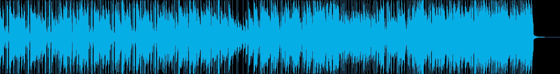 エレクトリックギターとアコースティ...の再生済みの波形
