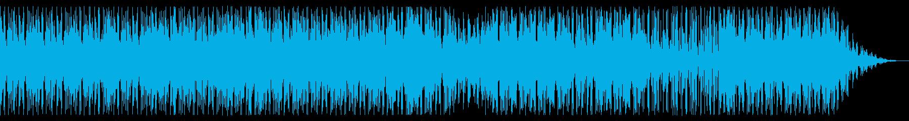 陽気で能天気なアフロビート風BGMの再生済みの波形