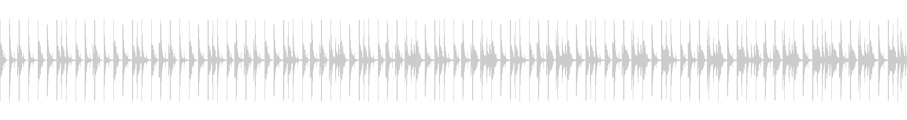 ゆったりファンキーなドラムループ01の未再生の波形