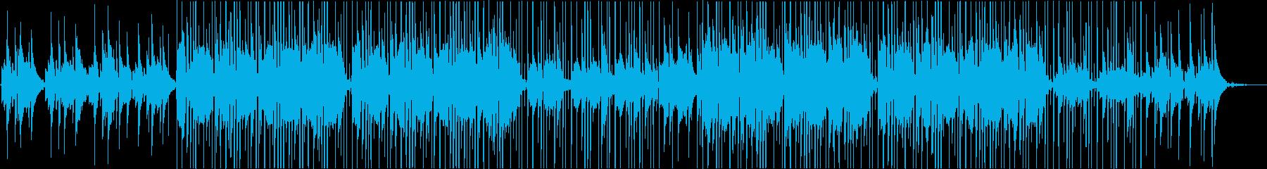 雨の日、少し憂鬱なLo-Fi音楽の再生済みの波形