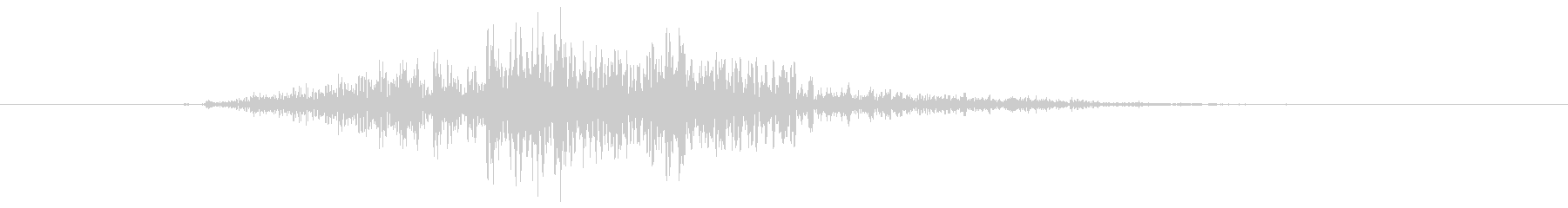 鳴き声 男性ファイトインテンス02の未再生の波形