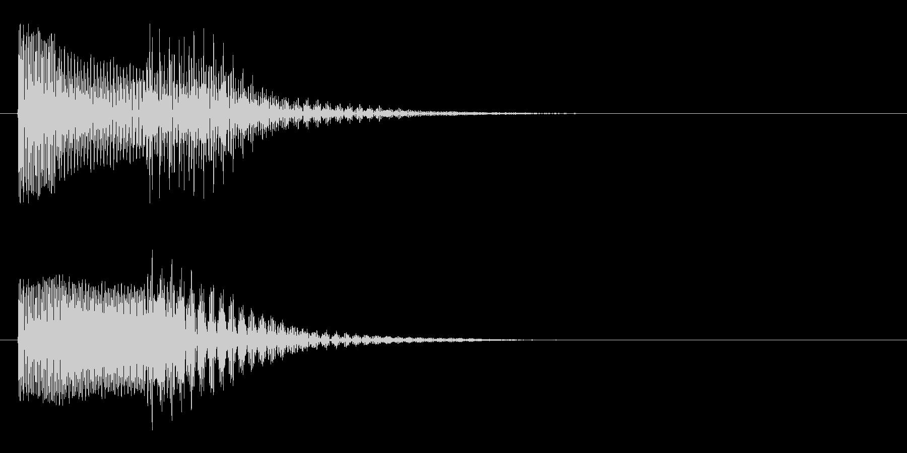 ピコッ(ひらめき・スマホのボタン音)の未再生の波形