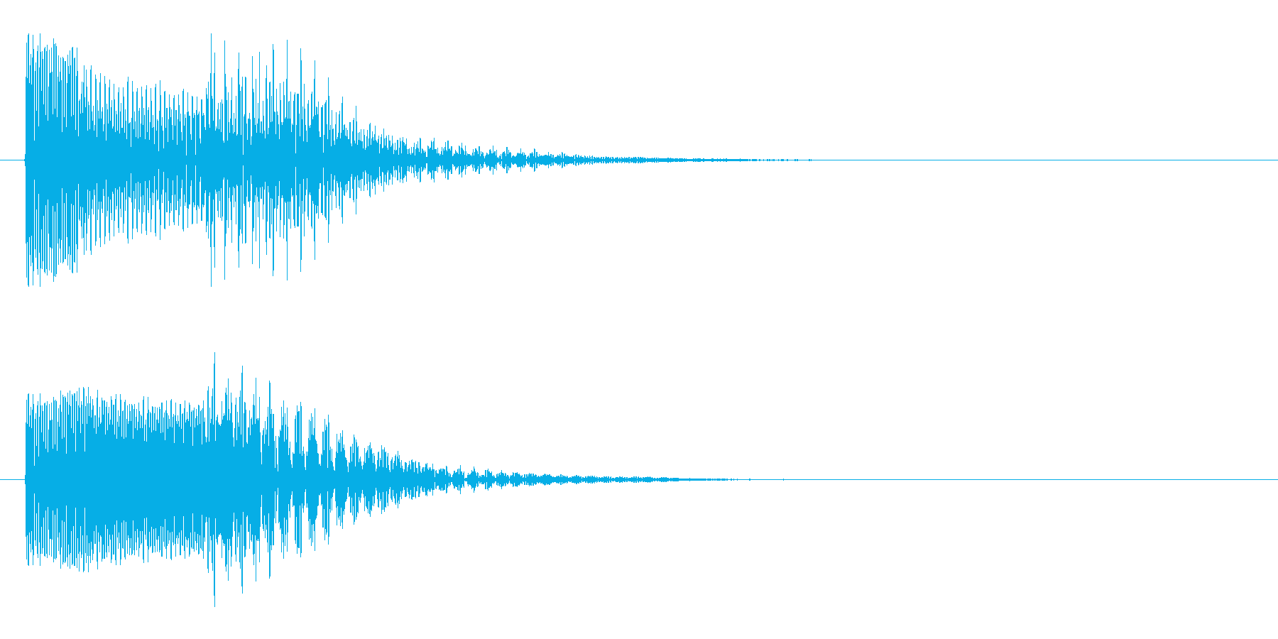 ピコッ(ひらめき・スマホのボタン音)の再生済みの波形