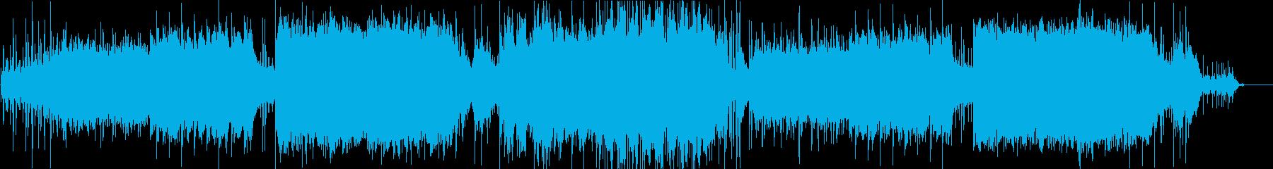 緊張感のあるエレクトロニカのインストの再生済みの波形
