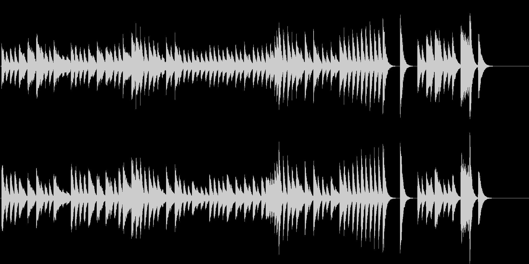 料理動画に♪爽やかで軽快なピアノジングルの未再生の波形