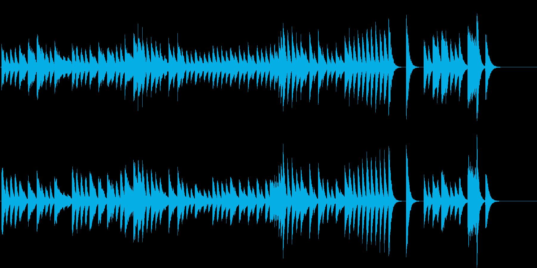 料理動画に♪爽やかで軽快なピアノジングルの再生済みの波形