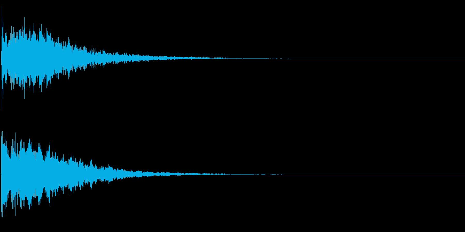 ゲームスタート、決定、ボタン音-132の再生済みの波形