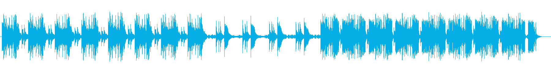 ひっそりとしたイメージのミュージックの再生済みの波形