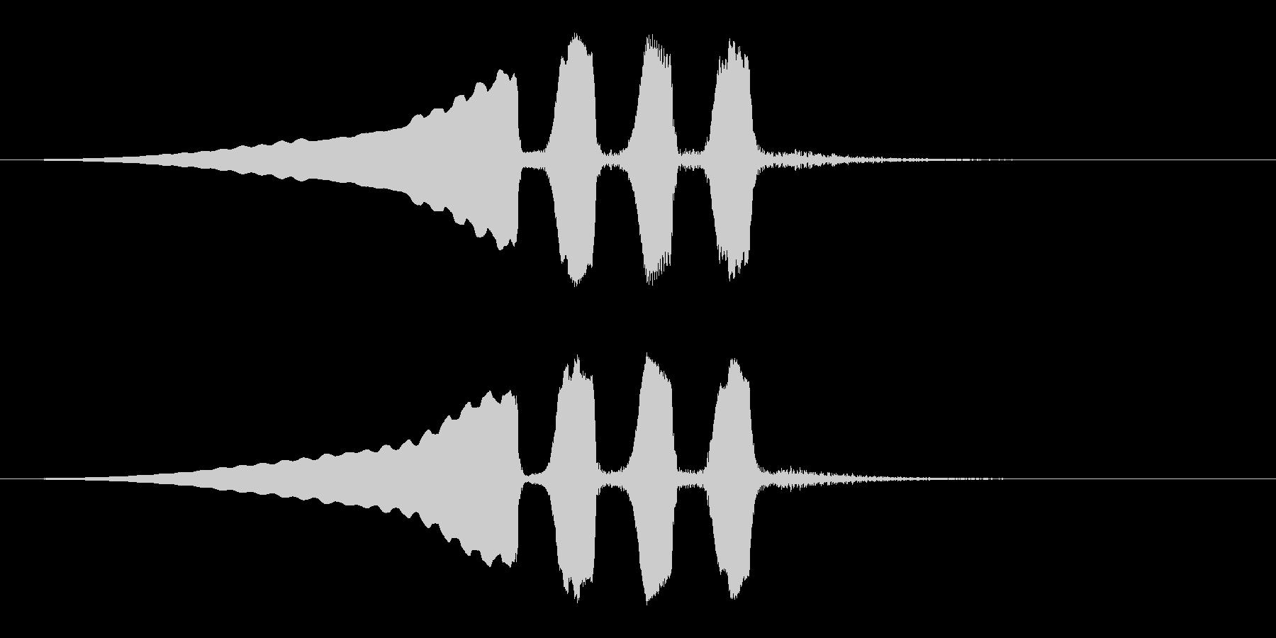 うぐいすの鳴き声 1C ほーほけきょの未再生の波形