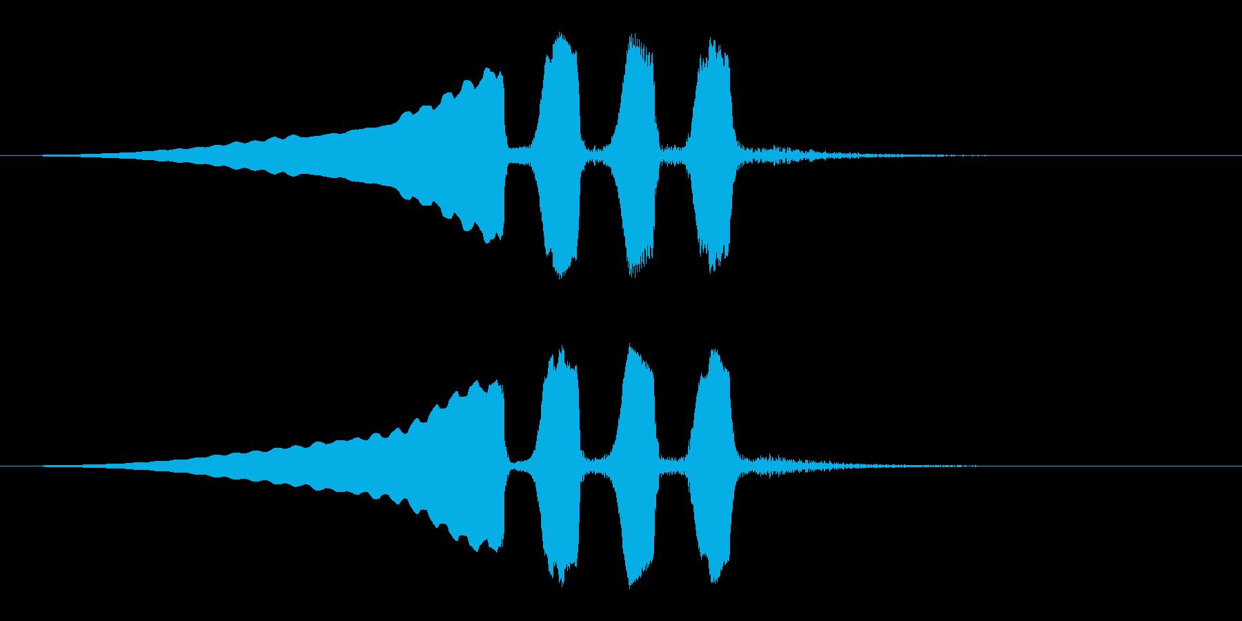 うぐいすの鳴き声 1C ほーほけきょの再生済みの波形