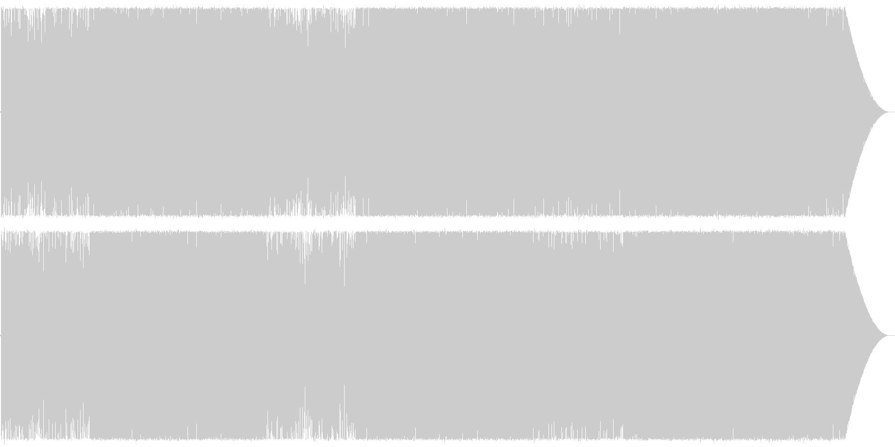 Chill/Healing系の曲12の未再生の波形