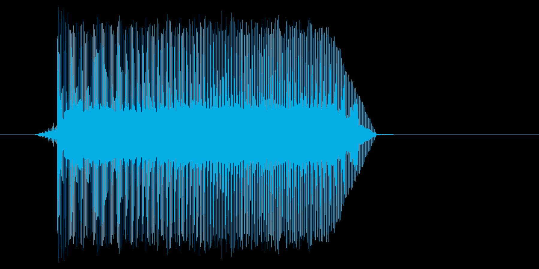ゲーム(ファミコン風)ジャンプ音_024の再生済みの波形