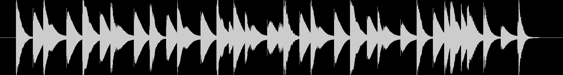 ほのぼのとした木琴のジングルの未再生の波形