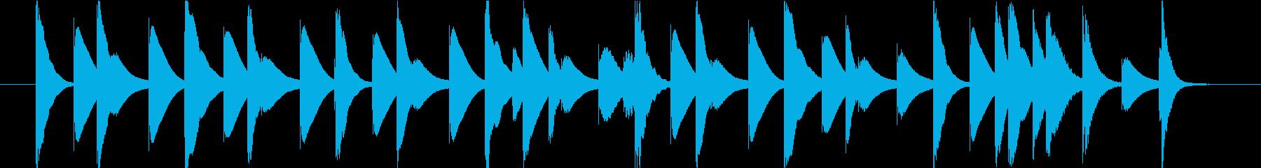 ほのぼのとした木琴のジングルの再生済みの波形