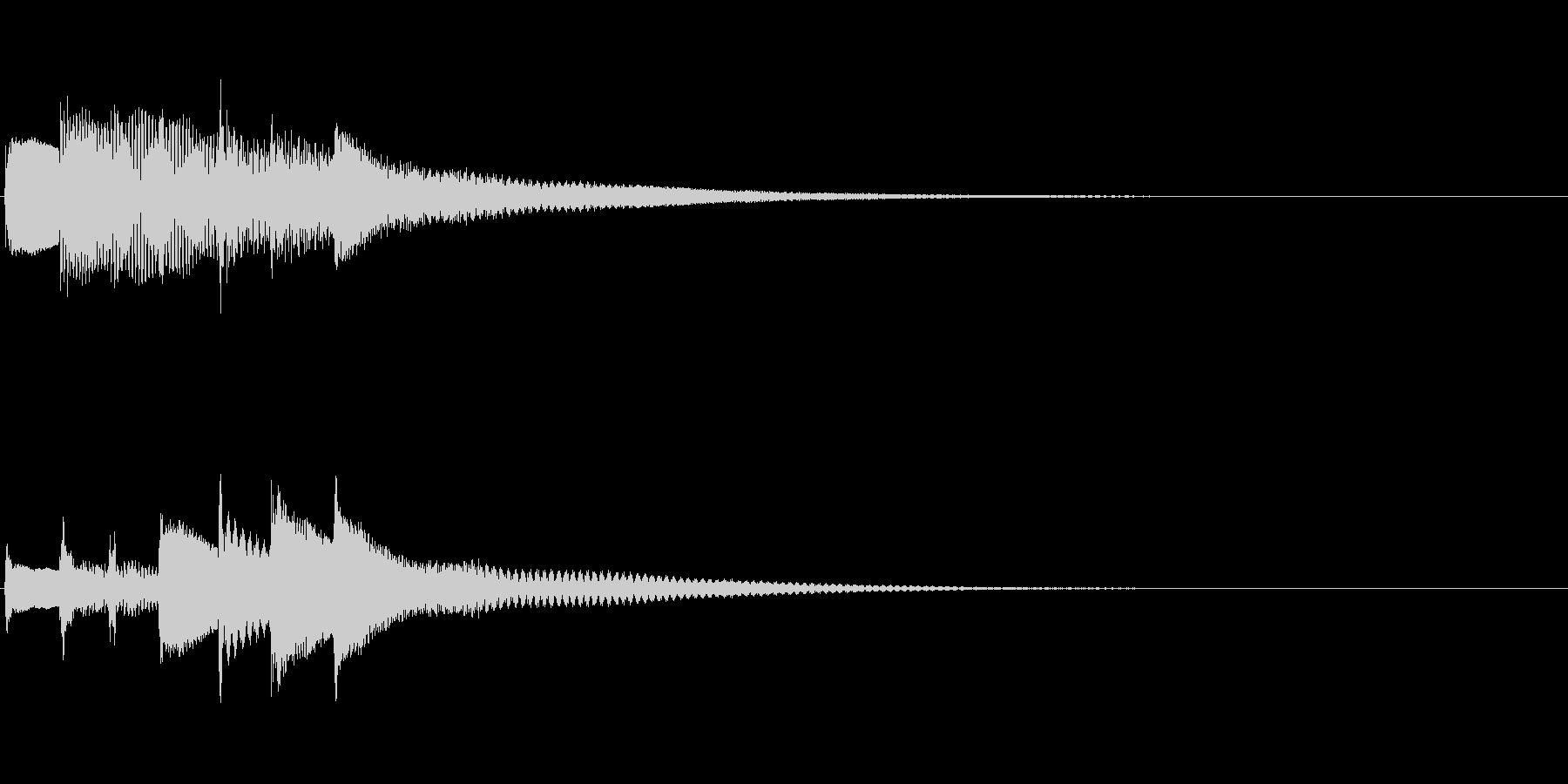 生演奏ピアノによる通知音 スタートアップの未再生の波形