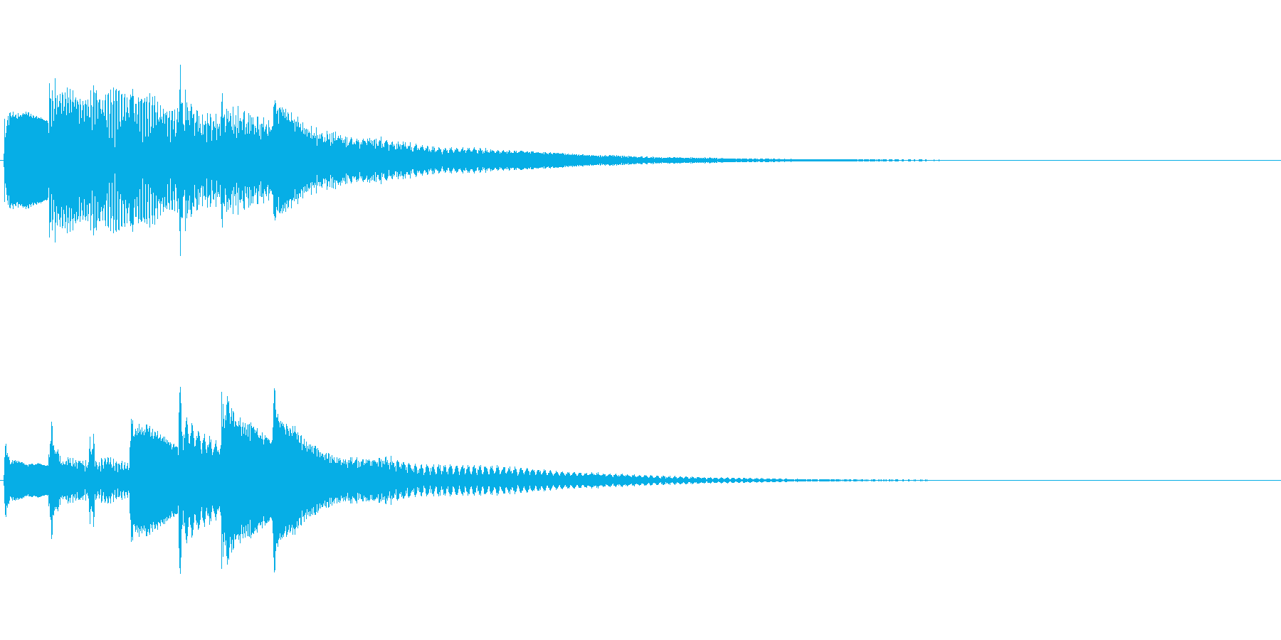 生演奏ピアノによる通知音 スタートアップの再生済みの波形