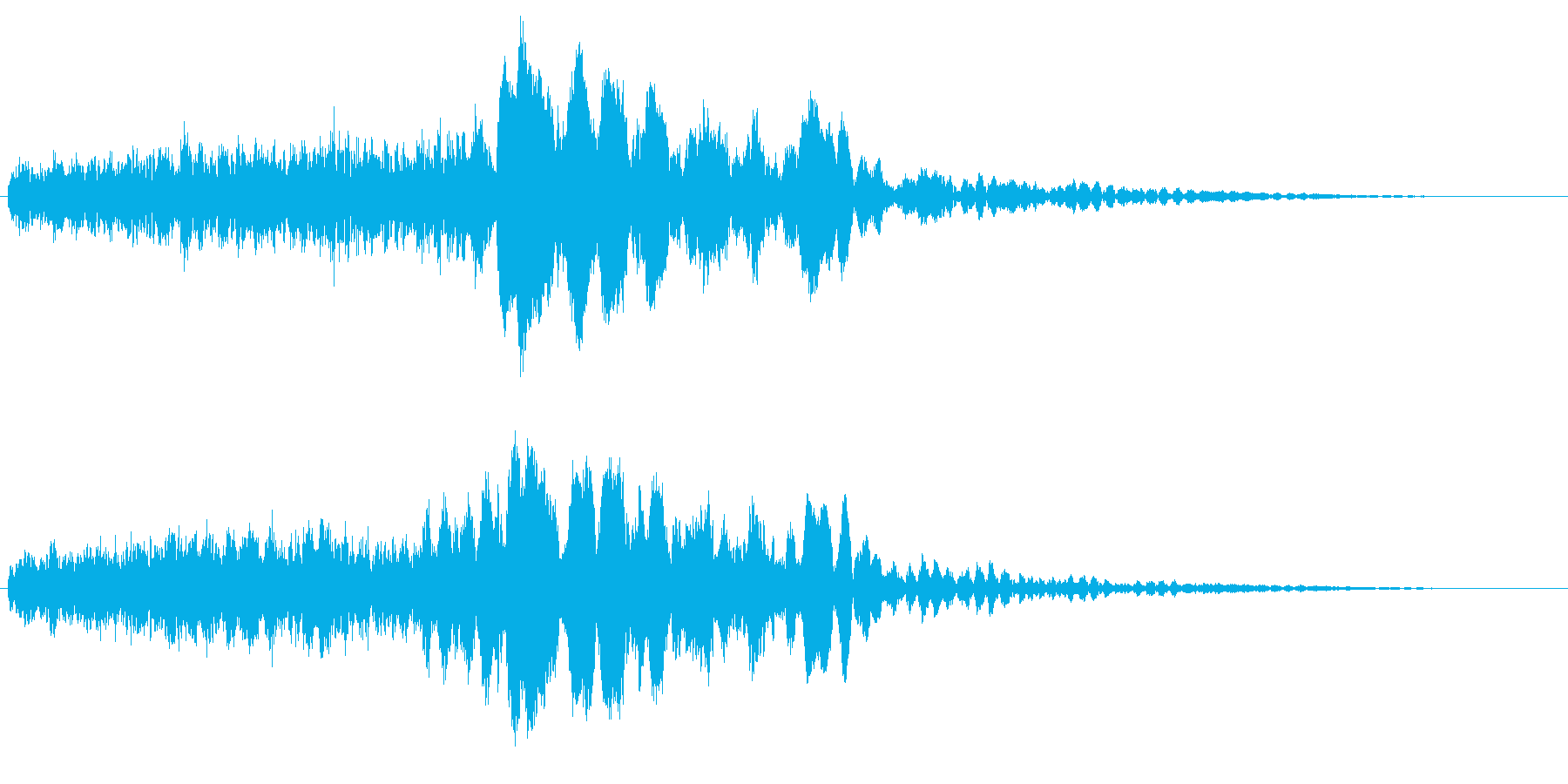 サスペンスに最適!ピアノの弦を弄ぶ音41の再生済みの波形