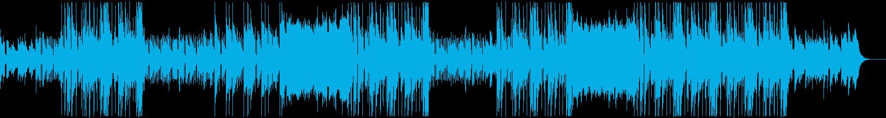 ポップな洋楽トラップビートの再生済みの波形
