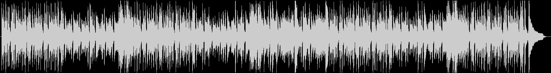ピアノの軽やかなBGMの未再生の波形